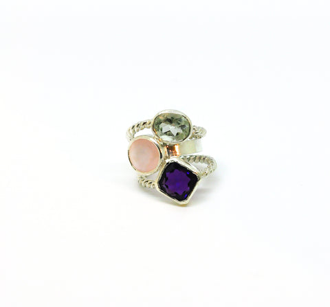NEW Multi gemstone ring 4