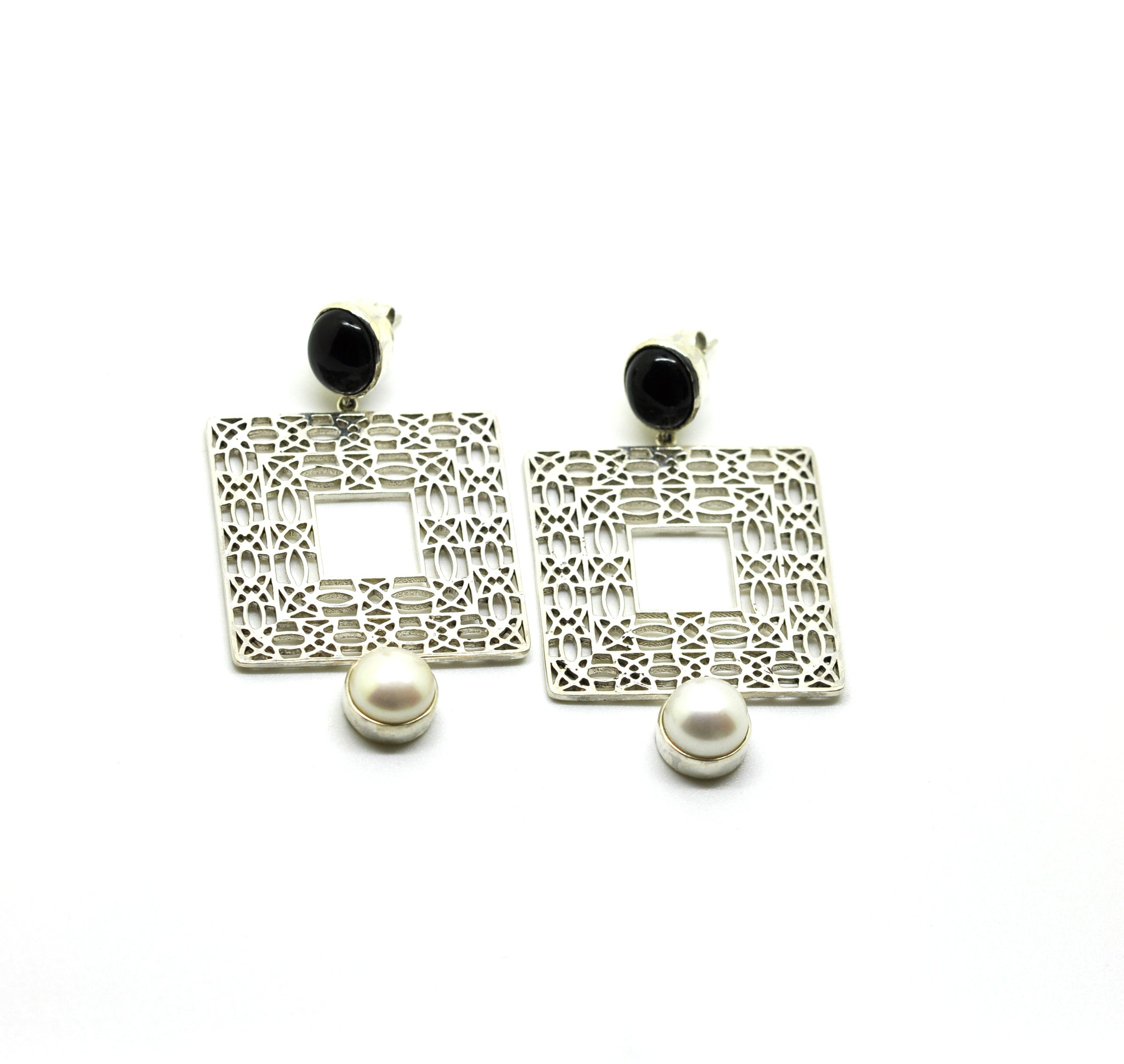 ON SALE Filigree - Square- Black onyx