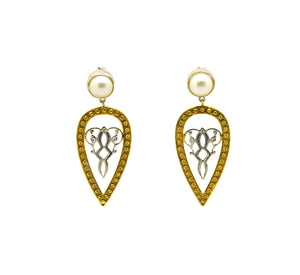 ON SALE Filigree- two tone- Pearl