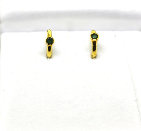 For little ears - Emerald hoops