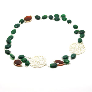ON SALE Green onyx necklace (CLEARANCE)