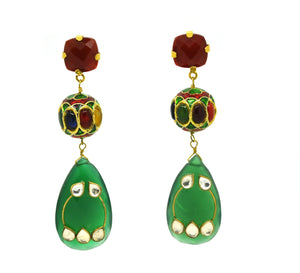 ON SALE Red and Green onyx ethnic