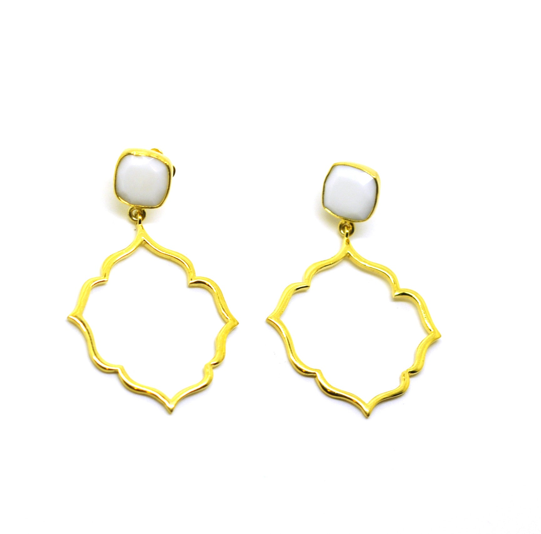 ON SALE Moroccan earring -White (clearance)
