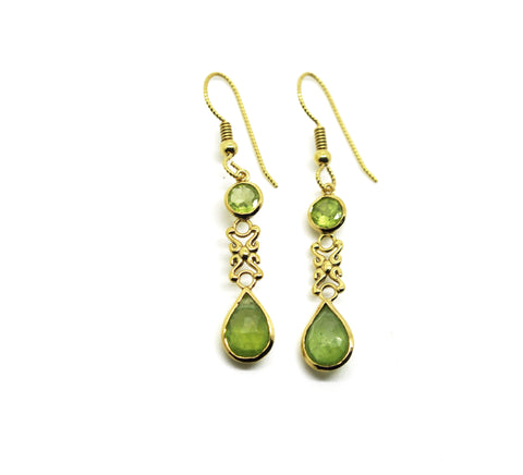 ON SALE  Peridot earrings