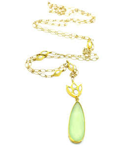 Kundan and Chalcedony necklace