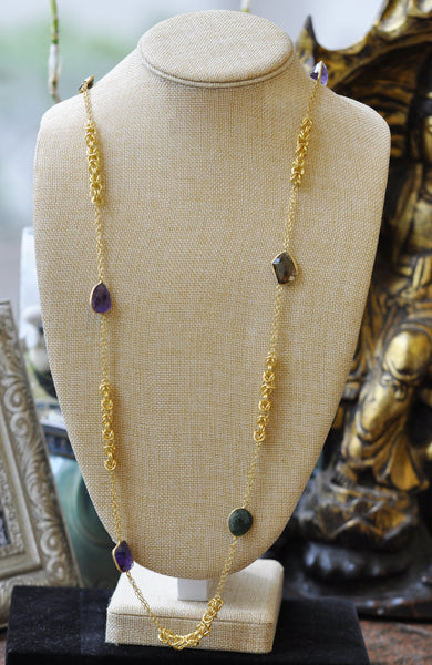 ON SALE - Multi gemstone necklace (CLEARANCE)