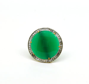 ON SALE Green onyx ring (clearance)