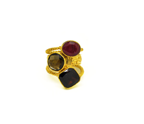 ON SALE Multi gemstone ring 3