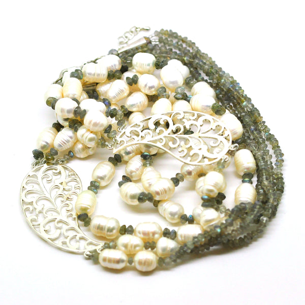 NEW Pearl filigree necklace