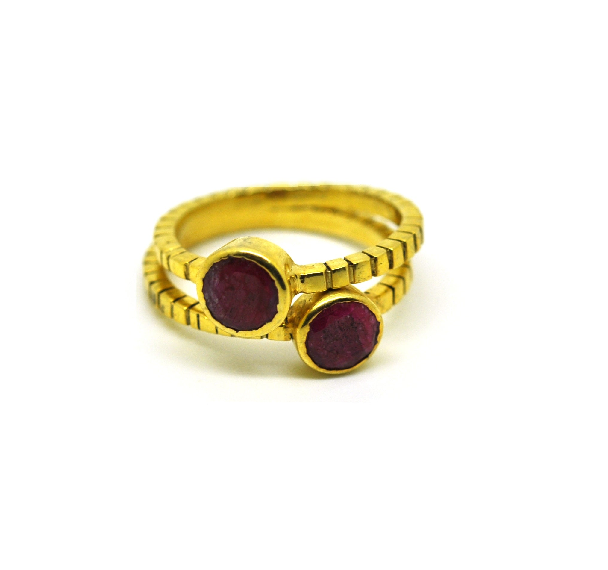 ON SALE Ruby stackable ring