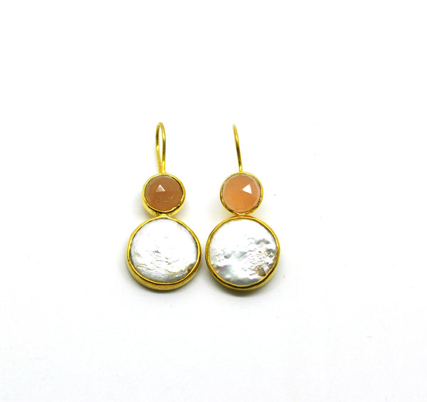 ON SALE Moonstone & Pearl earring - not available