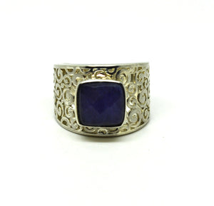 ON SALE Blue Sapphire Ring