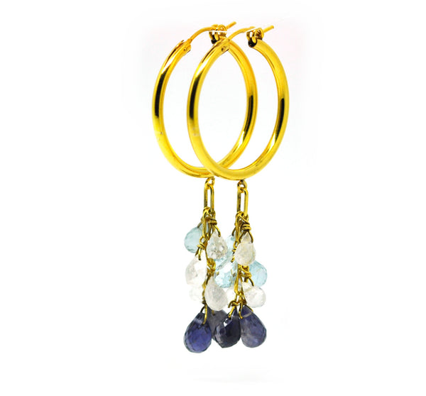 Gemstone hoops 4