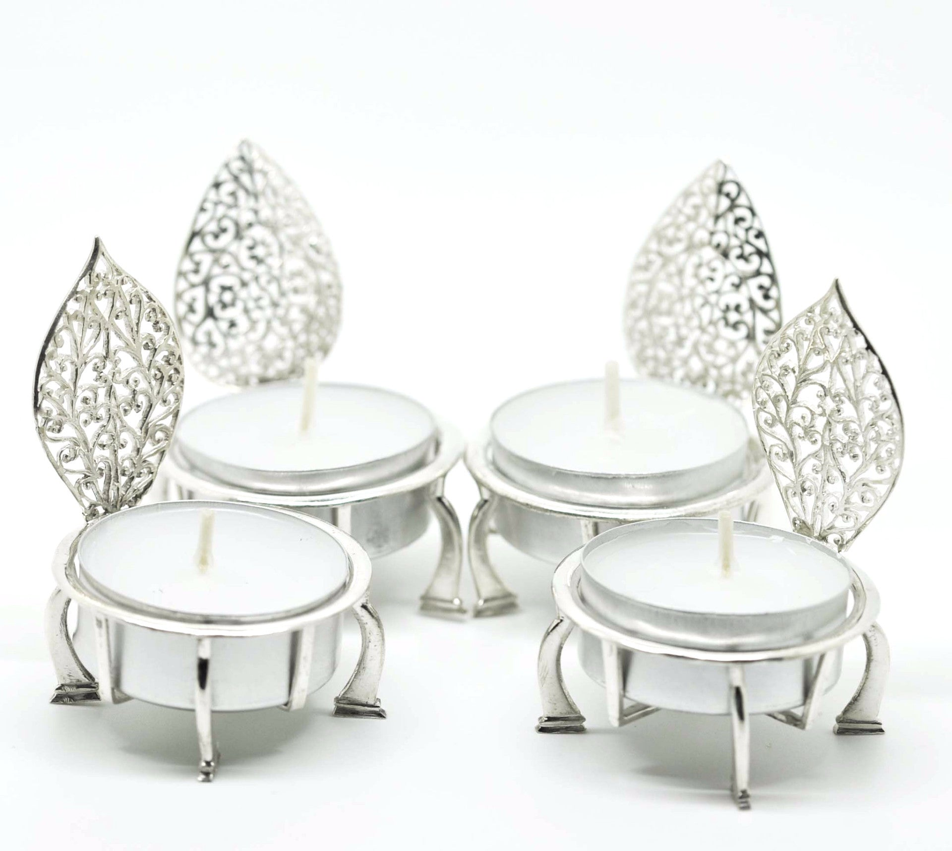 SOLD OUT - Sterling Silver Filigree Candle Holder 2