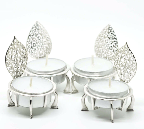 Sterling Silver Filigree Candle Holder 2