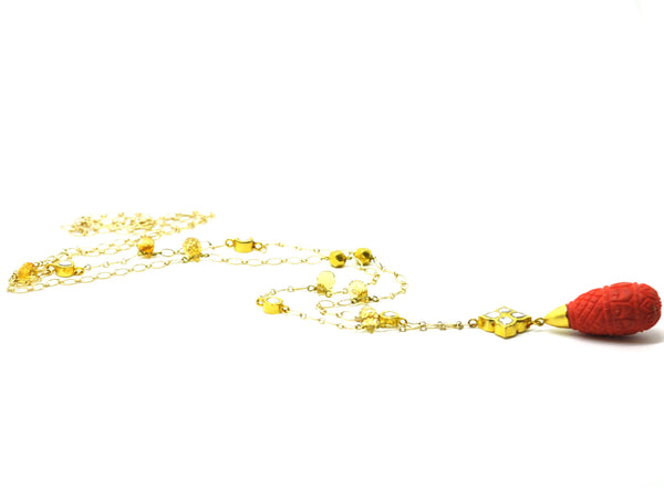SOLD- 20 in 2020  Kundan and Coral necklace