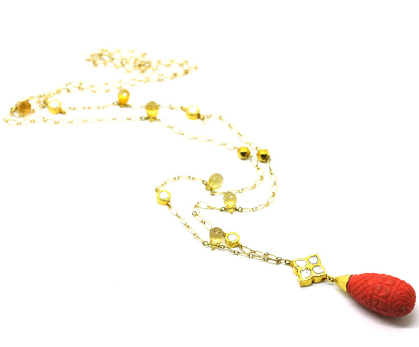 ON SALE  Kundan and Coral necklace
