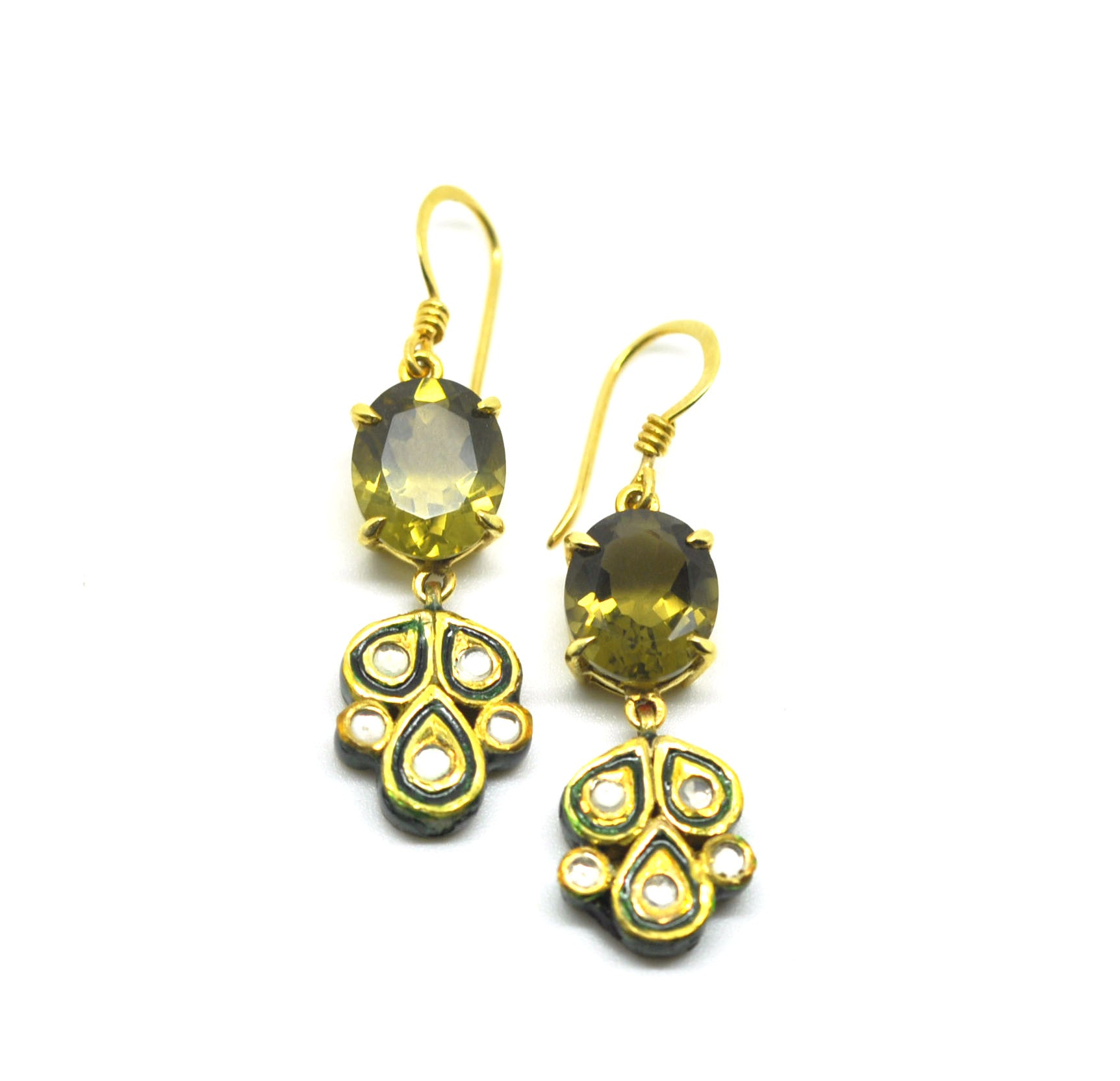 ON SALE Kundan and Quartz earring