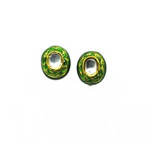 ON SALE Kundan and enamel earrings