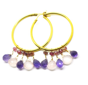 Gemstone Hoops 1