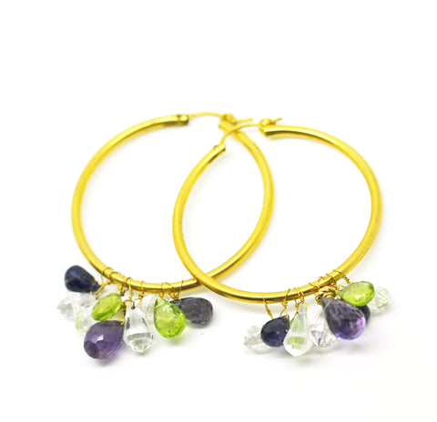 Gemstone Hoops 3