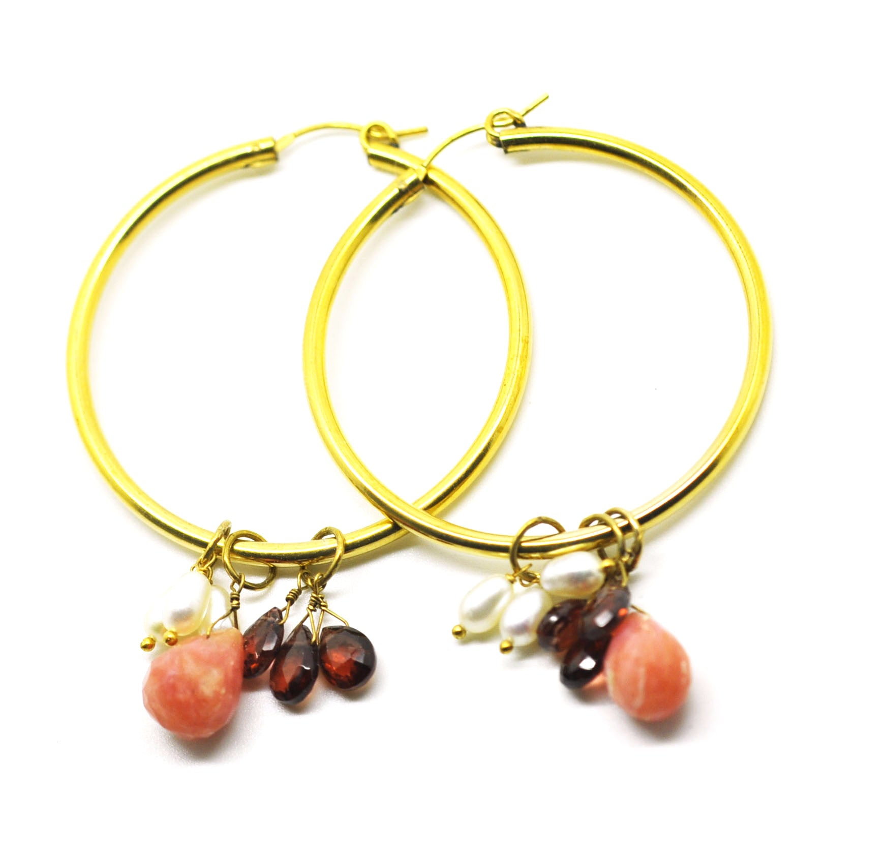 Gemstone Hoops 2