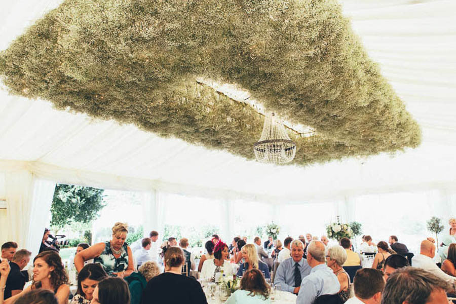 Wilde Thyme Wedding flowers destination wedding florist. Destination florist ceiling installation