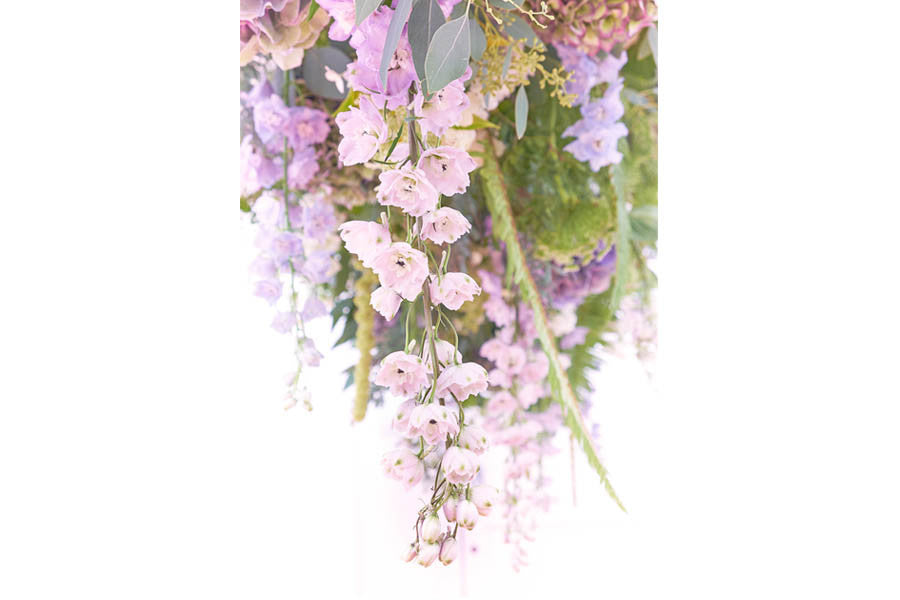 Wilde Thyme wedding flowers destination wedding florist destination florist ceiling installation hanging garden