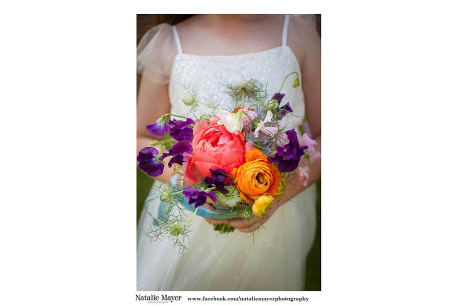 Wilde Thyme wedding flowers destination wedding florist bouquet peonies. Natalie mayer Photiography
