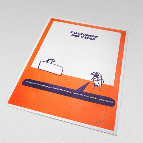 modern toss customer services print