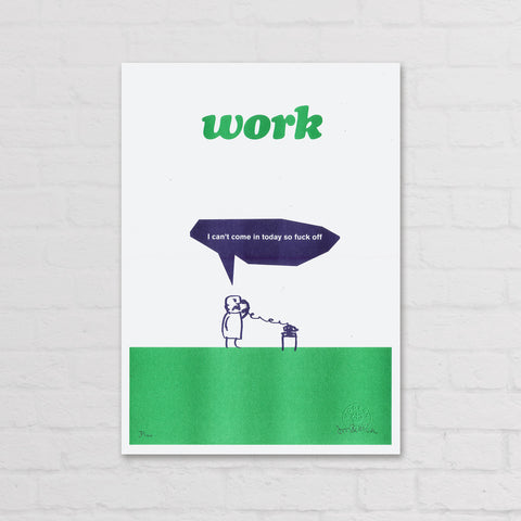 modern toss work fuck off print