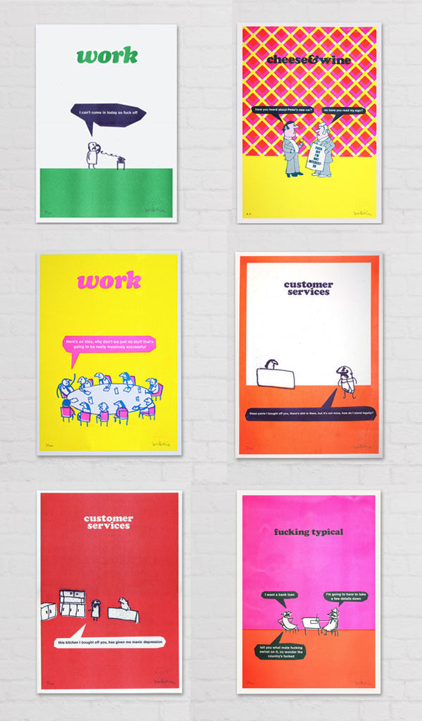 modern toss limited edition prints