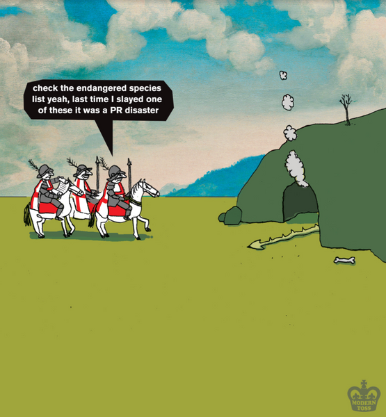 modern toss st george's day