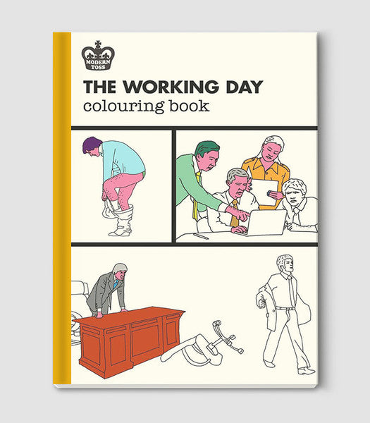 the working day colouring book modern toss