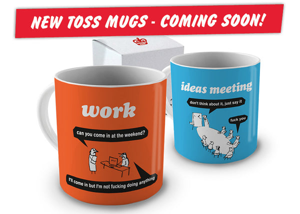 new modern toss mugs