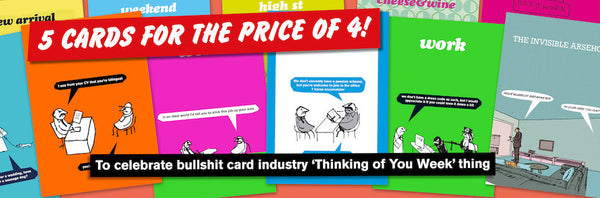 thinking of you week modern toss cards