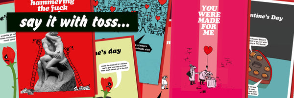modern toss valentine's day cards