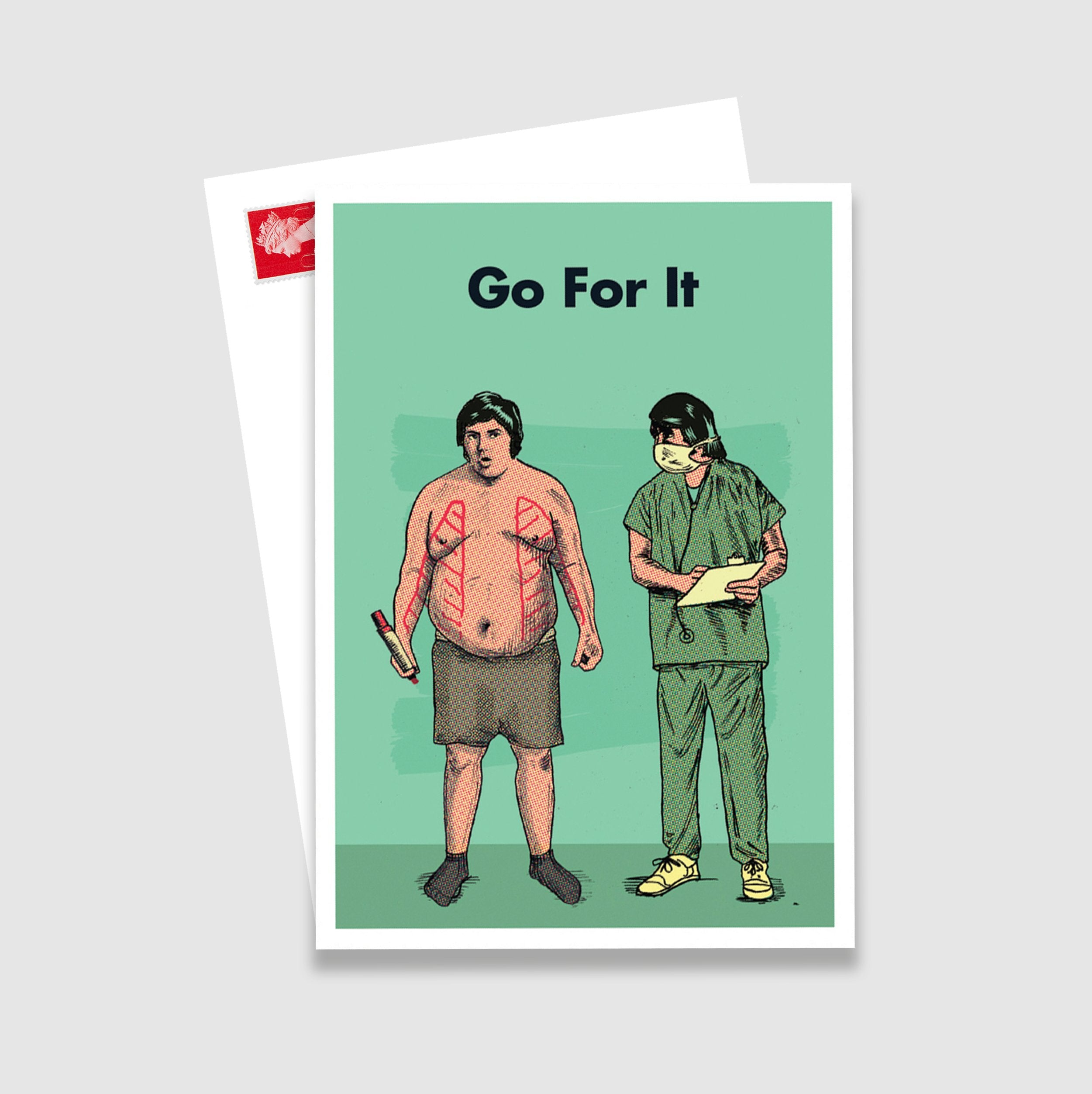 Go For It Postcard