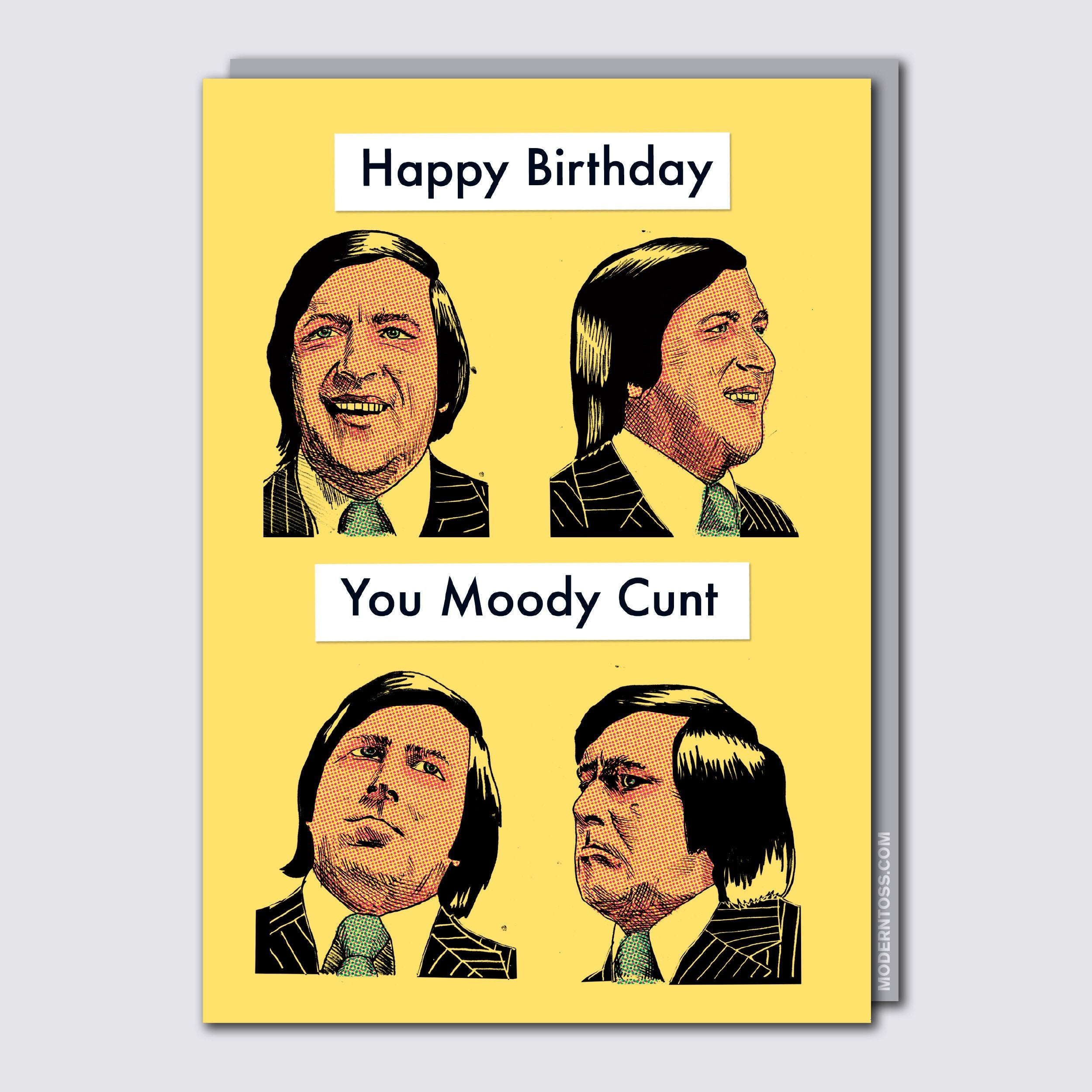 Moody Cunt Card