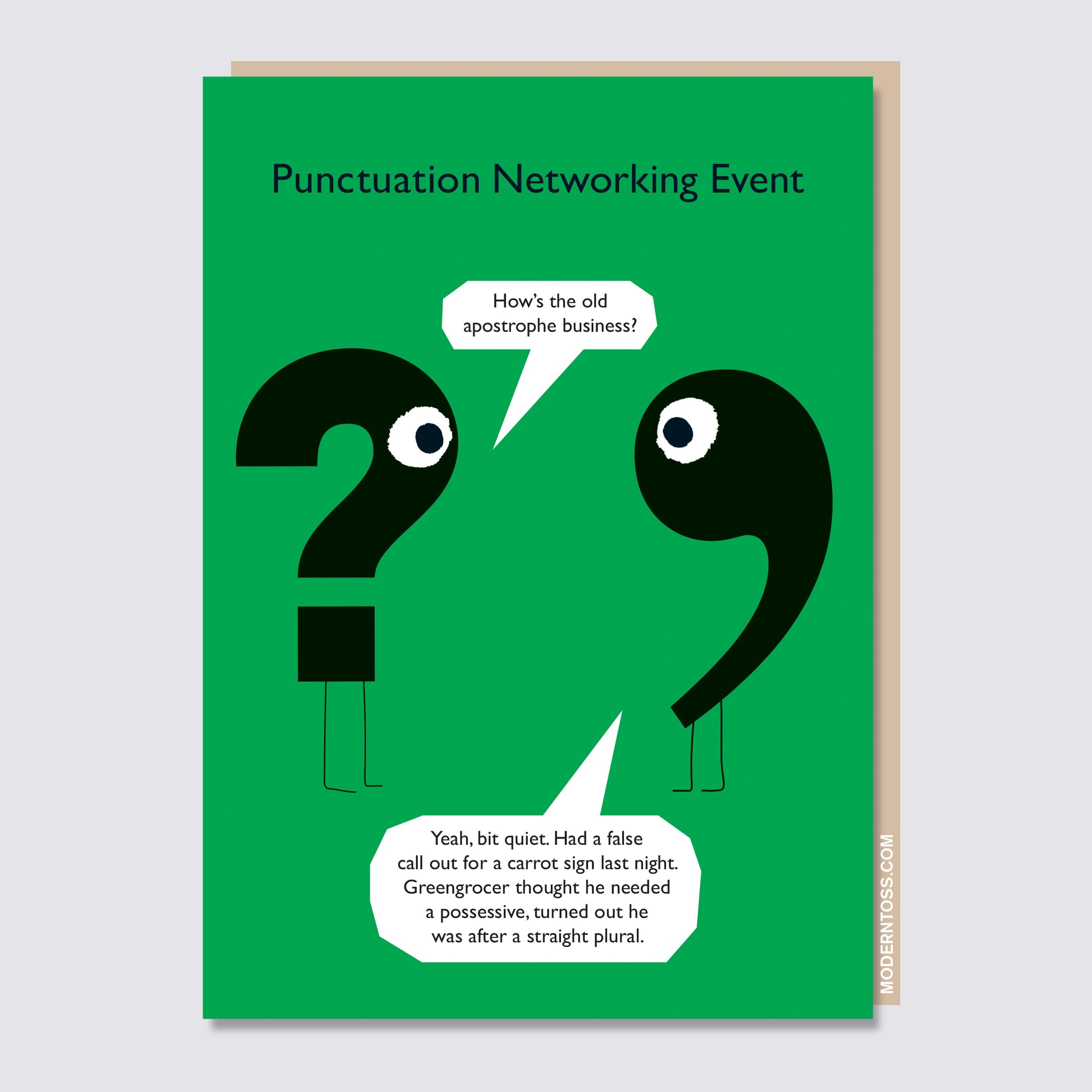 Punctuation Apostrophe Business Card