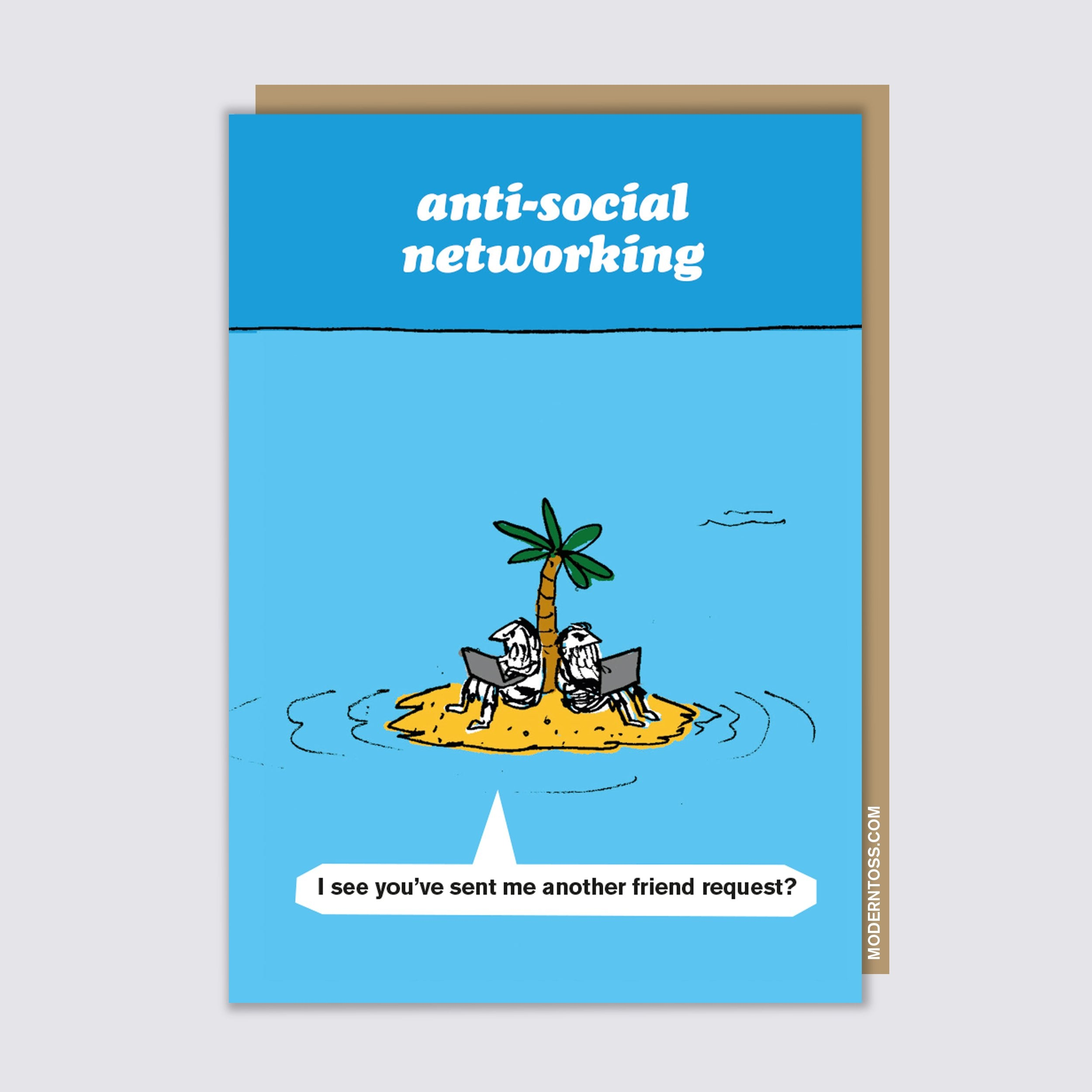 Anti-Social Networking Card
