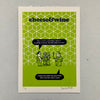Cheese and Wine Cliff Letterpress Print