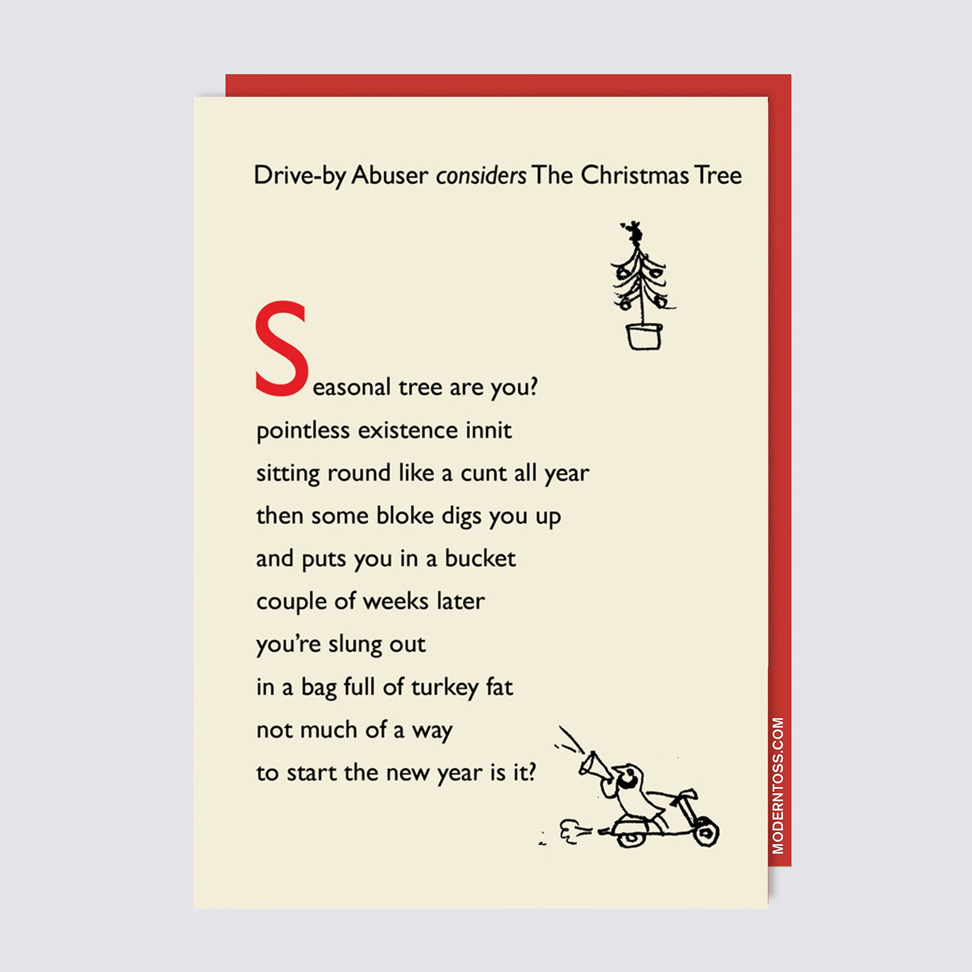 Drive By Christmas Tree Card