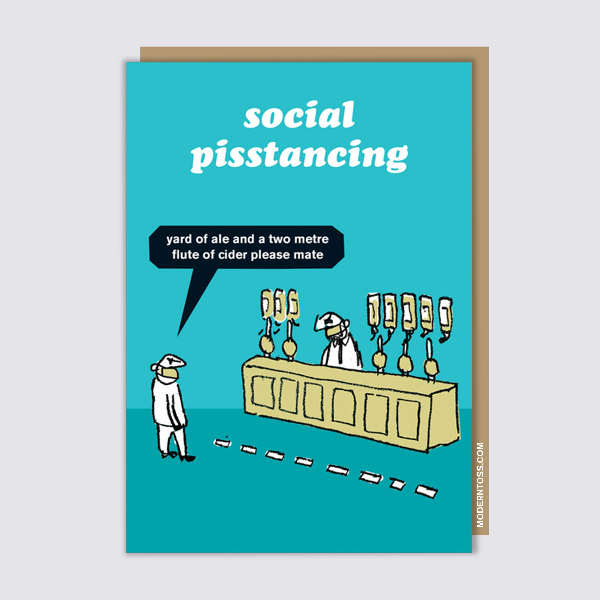 Modern Toss Cards Postcard Blagpiper Funny Hilarious Sold by Brainbox Candy
