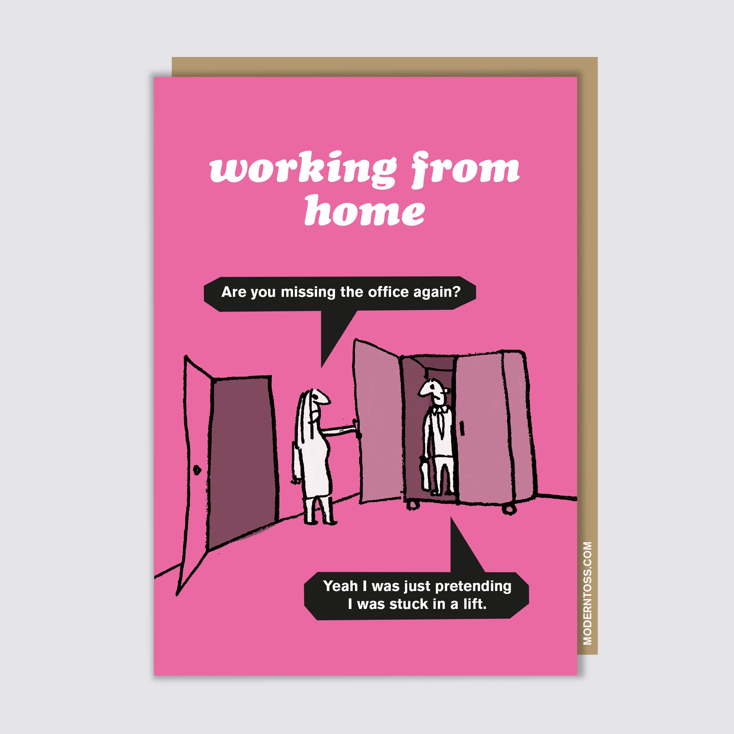 Working From Home Lift Card
