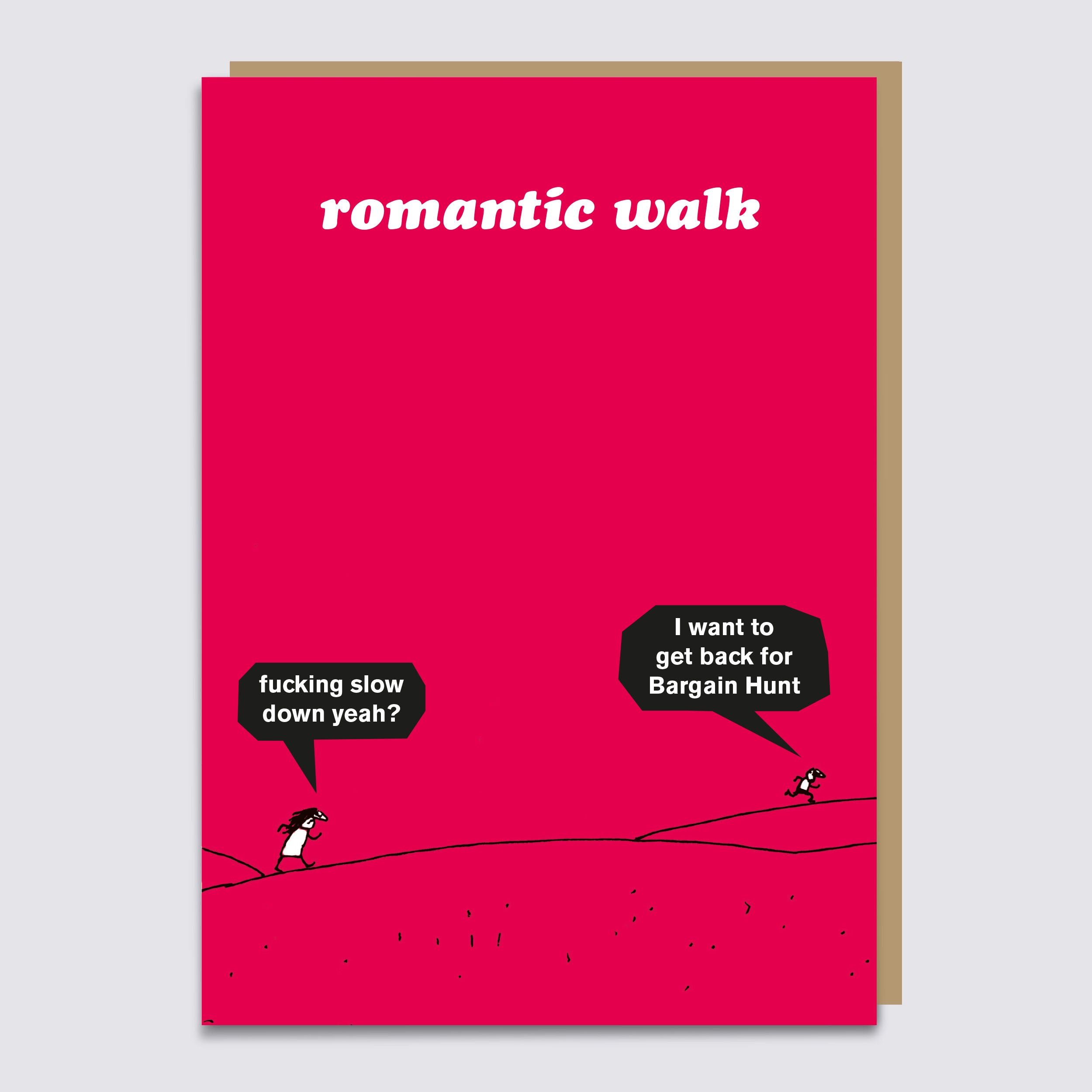 Romantic Walk Card