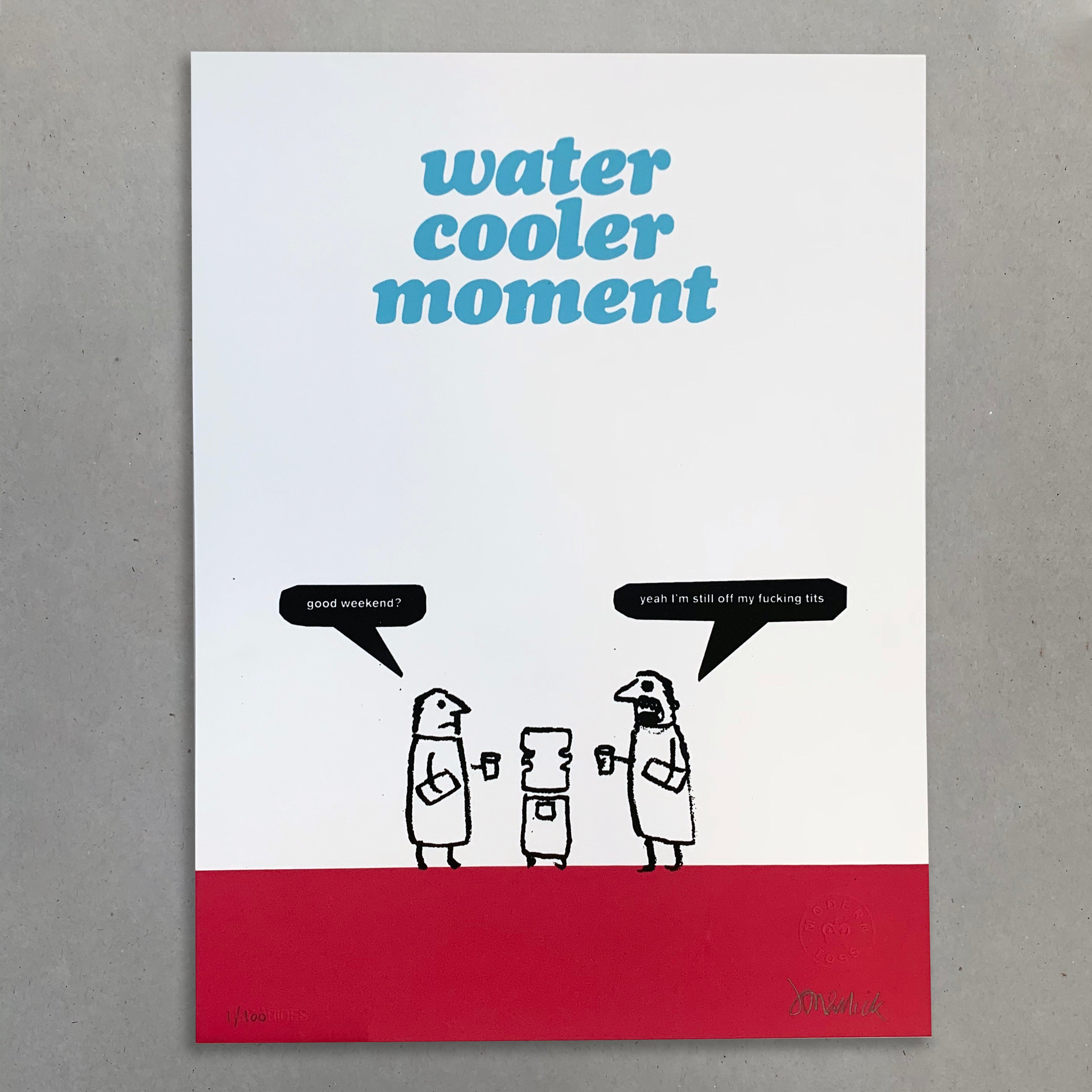 Water Cooler Moment Print