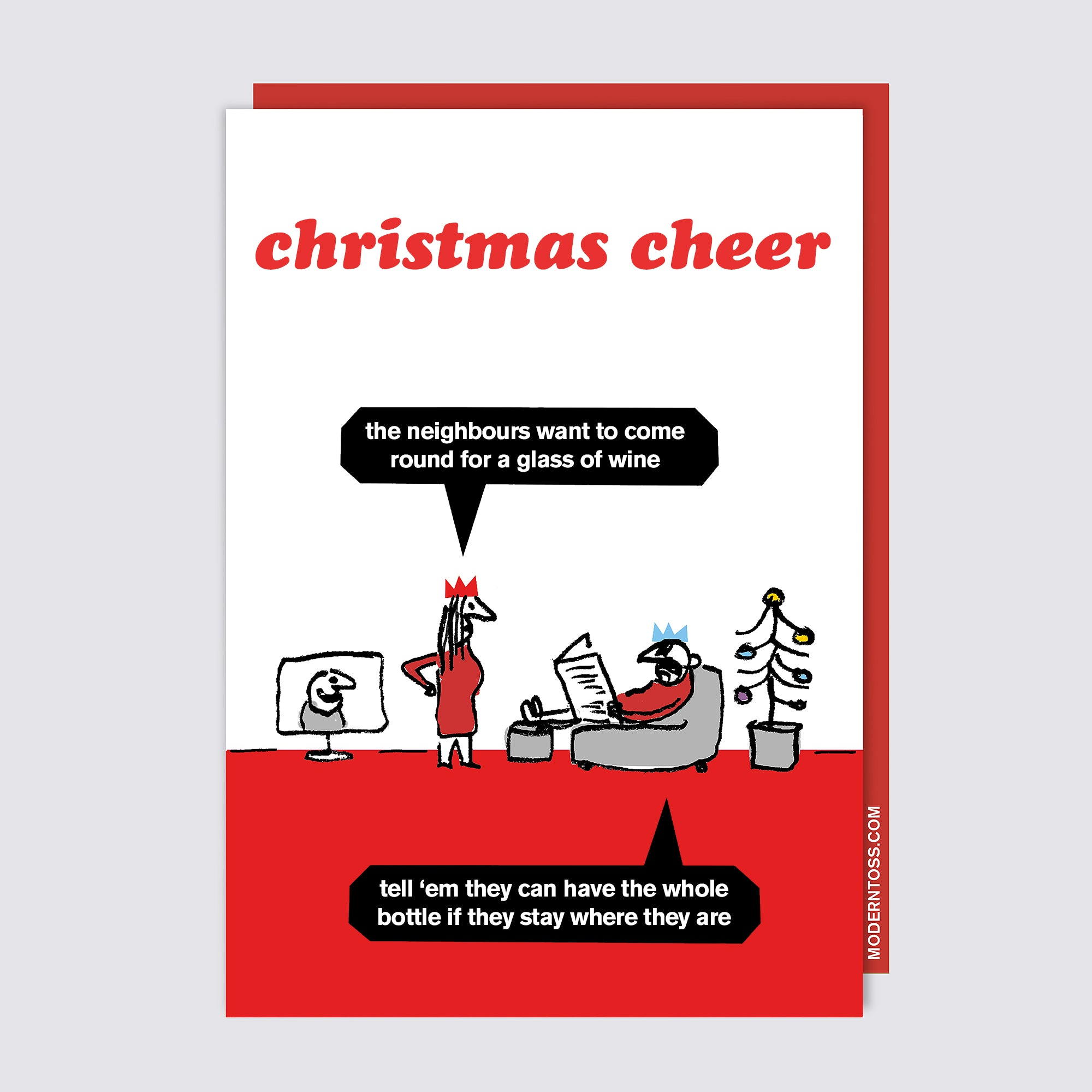 Christmas Cheer Wine Card