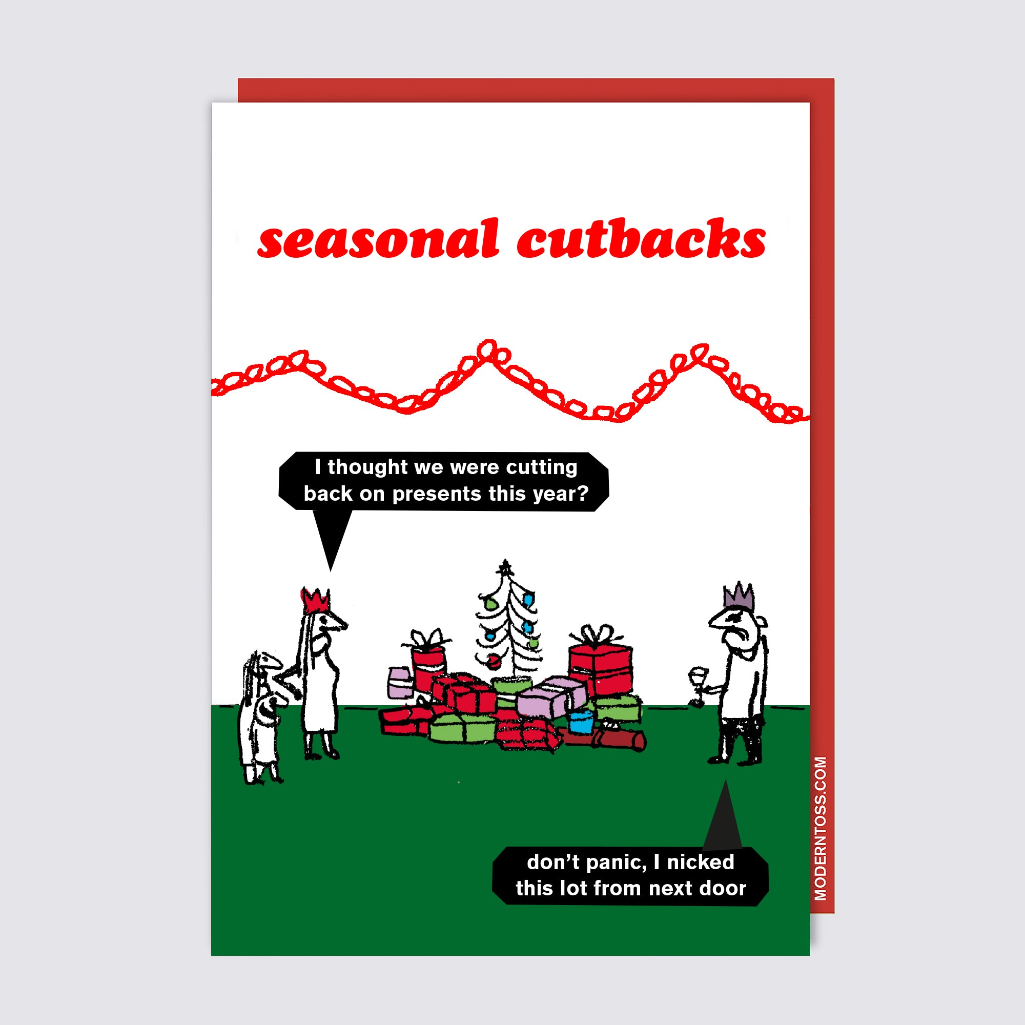 Seasonal Cutbacks Presents Card