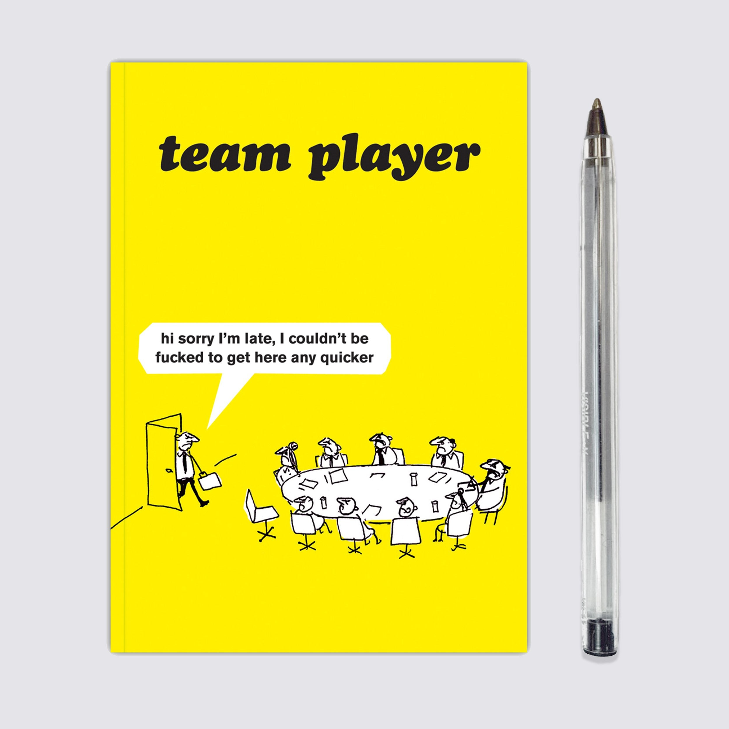 Work Team Player Notebook